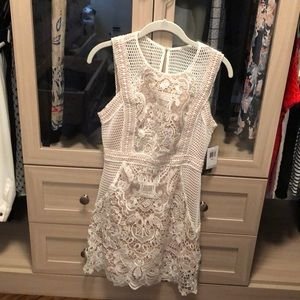 Aqua white and nude cocktail dress - never worn